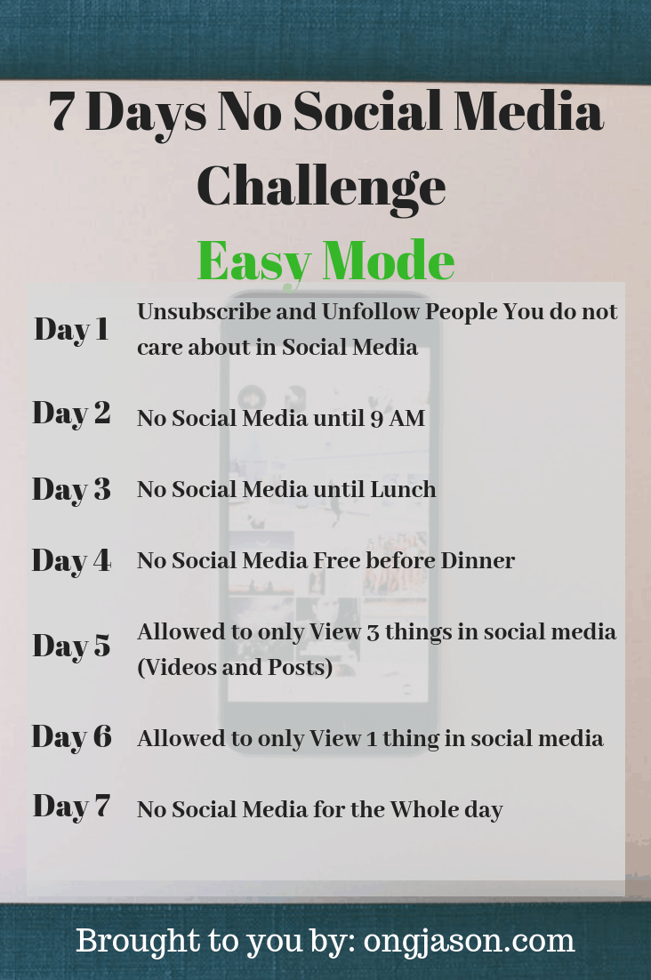 7 Days No Social Media Challenge Easy Mode