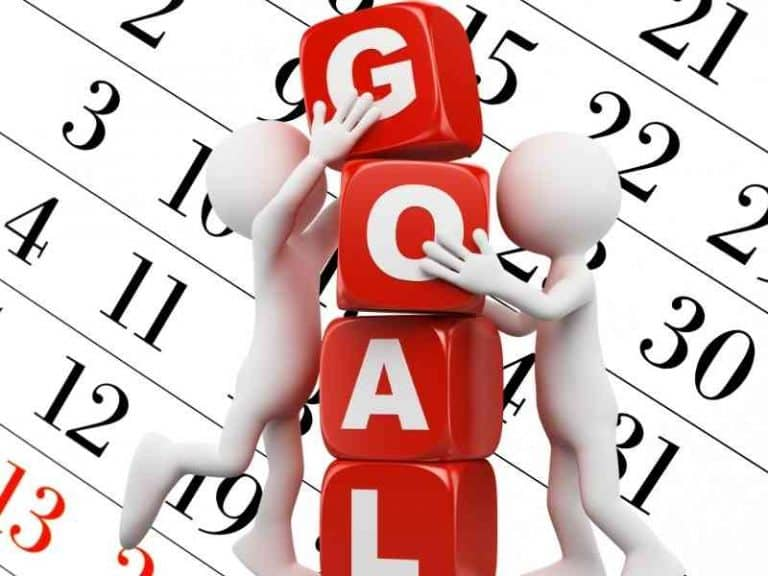 How many goals should you set in a month?