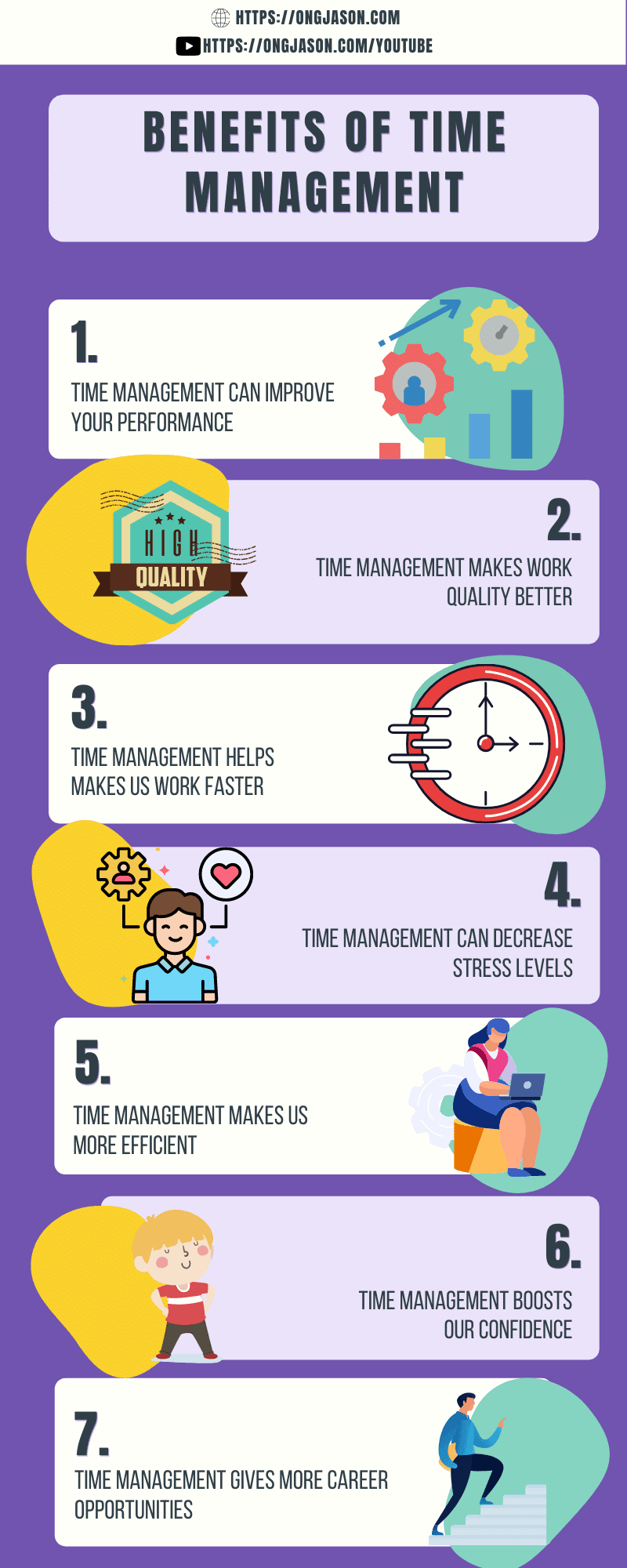 Benefits of Time Management Infographic